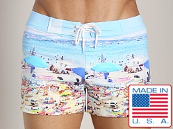 Sauvage Tropical Swim Trunk Key West Print