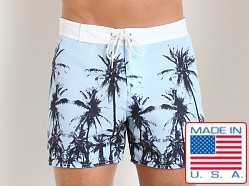 Sauvage Palms Surf Shorts Aqua
