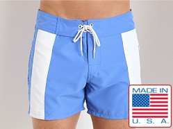 Sauvage Boardwalk Surf Trunks French Blue/White