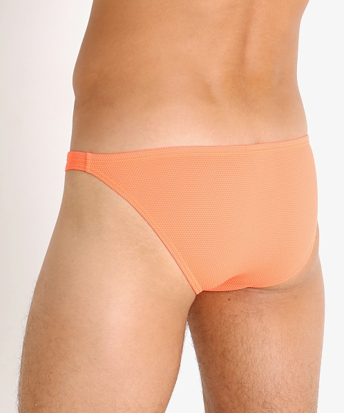 Modus Vivendi Corn Pique Low Cut Swim Brief Neon Orange
