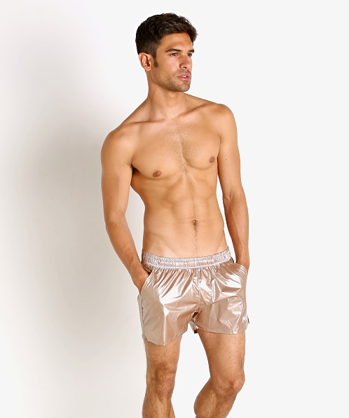 Modus Vivendi Monochrome Swim Shorts Rose Gold