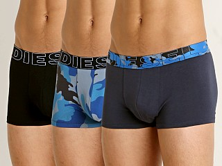 Diesel Camo Damien Trunk 3-Pack Blue Camo/Black/Navy