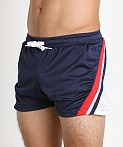Jack Adams Relay Air Mesh Gym Short Navy/Blue/White, view 3