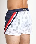 Jack Adams Relay Air Mesh Gym Short Navy/Blue/White, view 4