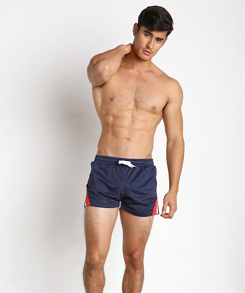 Jack Adams Relay Air Mesh Gym Short Navy/Blue/White
