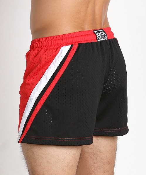 Jack Adams Relay Air Mesh Gym Short Red/Blk/White