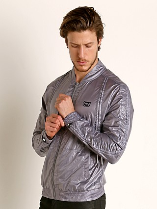 Model in grey Nasty Pig Launch Jacket