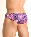 Timoteo Lakeshore Low Rise Swim Brief Python Pink, view 4