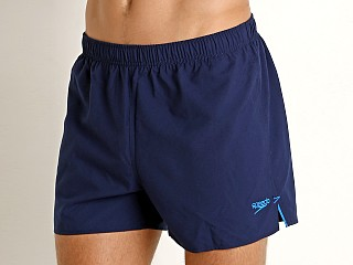 "Speedo 4"" Solid Surf Runner Swim Shorts Navy"