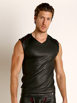 Model in black Gregg Homme Scorpio Muscle Shirt