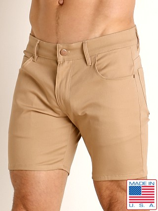 LASC Cotton Twill 5-Pocket Shorts Khaki