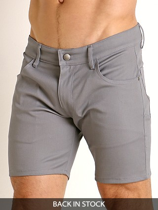 LASC Cotton Twill 5-Pocket Shorts Grey