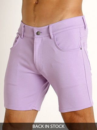 LASC Stretch Jersey 5-Pocket Shorts Lilac