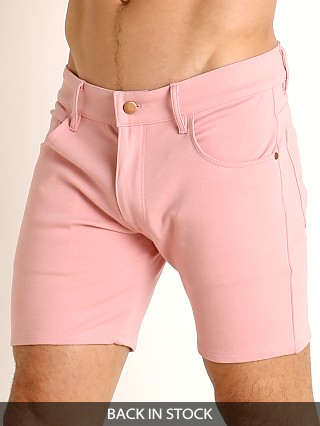 LASC Stretch Jersey 5-Pocket Shorts Dusty Rose