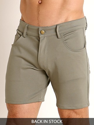 LASC Stretch Jersey 5-Pocket Shorts Army