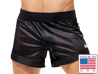 Rufskin Dunk Mesh Panel Sport Shorts Black