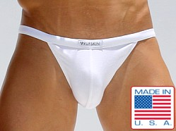 Rufskin Elton Rayon/Spandex Sports Briefs White