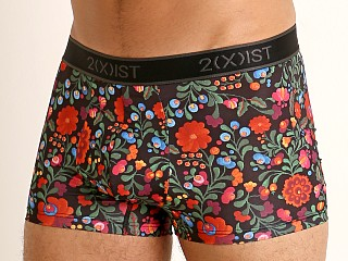 2xist Graphic Micro No-Show Trunk Floral Emroidery