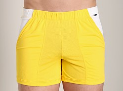 Tulio Color Block Dry Fit Short Yellow