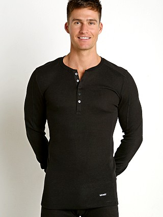 2xist Sport Tech Long Sleeve Henley Black