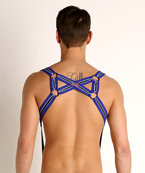 Cell Block 13 X-Back Mesh Harness Blue