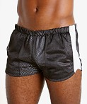 LASC Reversible Athletic Mesh Shorts Black/White, view 3