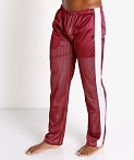 LASC Reversible Athletic Mesh Pants Burgundy/White, view 3