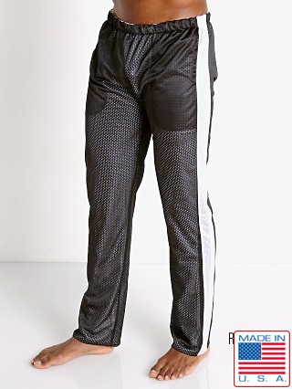 Model in black/white LASC Reversible Athletic Mesh Pants