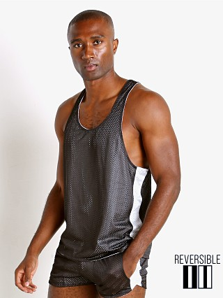 Complete the look: LASC Reversible Athletic Mesh Tank Top Black/White