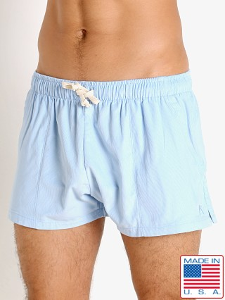 Model in sky LASC Lightweight Corduroy Shorts
