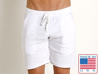 LASC Solid Terry Rower Short White