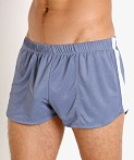 LASC Matte Jersey Snap Shorts Denim, view 3