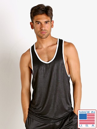 Model in black LASC Matte Jersey Tank Top