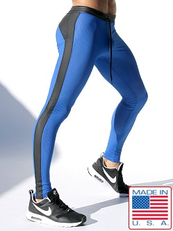 Rufskin Super Ricky Mesh/Rubber Compression Leggings Royal