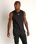 Under Armour Charged Cotton Tank Top Black/White, view 2