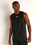 Under Armour Charged Cotton Tank Top Black/White, view 3