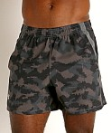 "Under Armour Launch 5"" Running Short Black/Grey Camo, view 3"