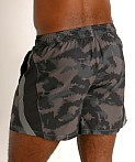 "Under Armour Launch 5"" Running Short Black/Grey Camo, view 4"