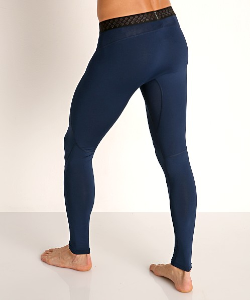 Under Armour Rush Heat Gear Leggings Academy/Black