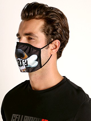 Cell Block 13 Puppy Bite Face Mask Black