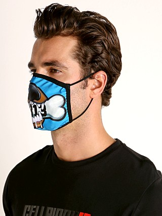 Cell Block 13 Puppy Bite Face Mask Blue