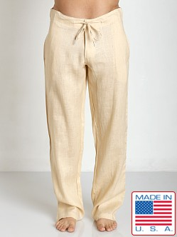 Sauvage 100% Laundered Roma Linen Tropical Pant Natural