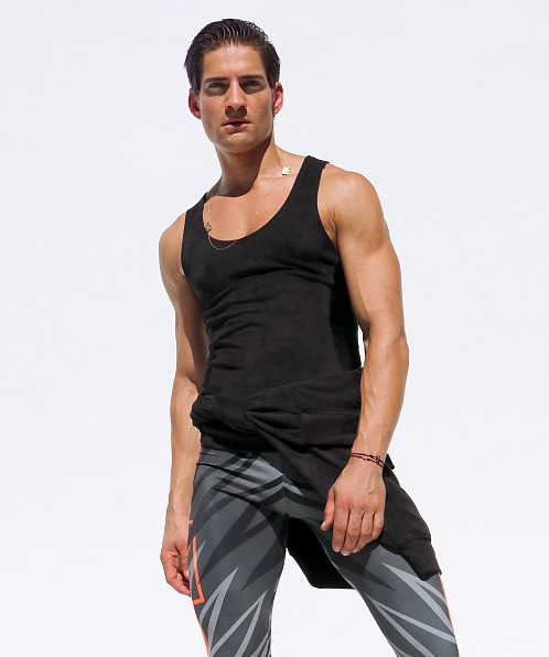 Rufskin Void Ultra Suede Tank Top Black