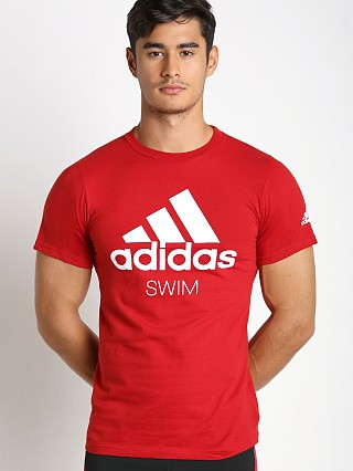 Adidas Swim Team T-Shirt Red