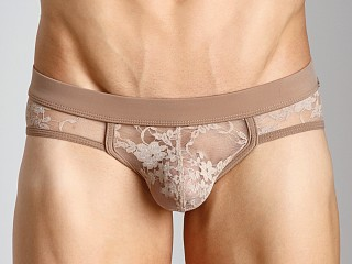 Model in nude Tulio Lace Power Pouch Bikini