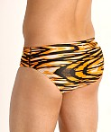 Speedo Pro Lt Wave Wall Swim Brief Orange, view 4