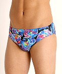 Speedo Endurance Print Swim Brief Baja Blue, view 3