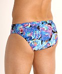 Speedo Endurance Print Swim Brief Baja Blue, view 4