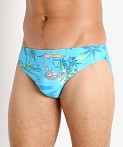 "Speedo Paradise Painting Solar 1"" Swim Brief Blue Atoll, view 3"