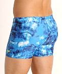 Speedo Tie Dye Square Leg Swim Trunk Ibiza Blue, view 4